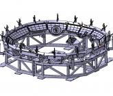 Konstruktion der Umrissfraesvorrichtung für Kalotte Airbus A350